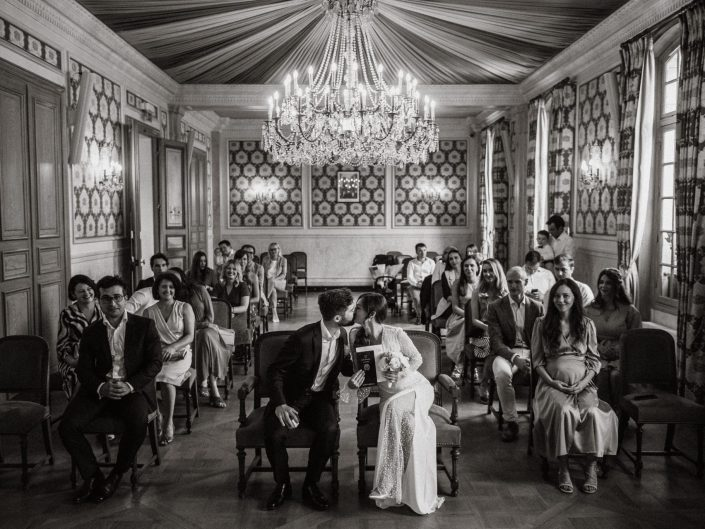 Wedding at mairie de Levallois-Perret